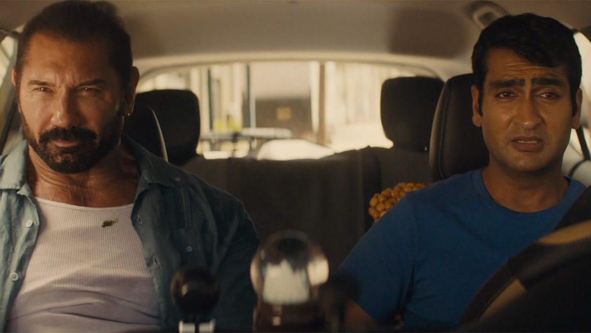 two men driving
