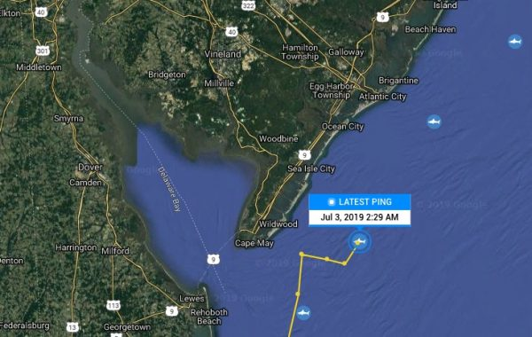 ping map of great white shark