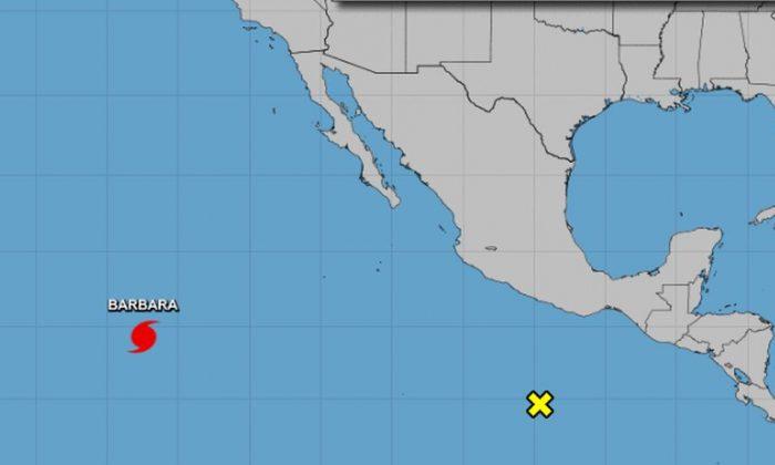 Category 4 Hurricane Barbara began to weaken on July 3 after reaching wind speeds of 155 mph. (NHC)
