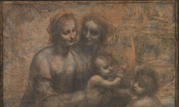 "A detail from Leonardo da Vinci's ""The Virgin and Child With Saint Anne and Saint John the Baptist."" (Public Domain)"