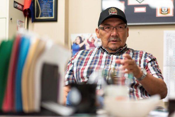 Jim Pratt, an aboriginal policing instructor, speaks in his office at Saskatchewan Polytechnic in Regina, Saskatchewan on Tuesday July 2, 2019. (Michael Bell/The Canadian Press)