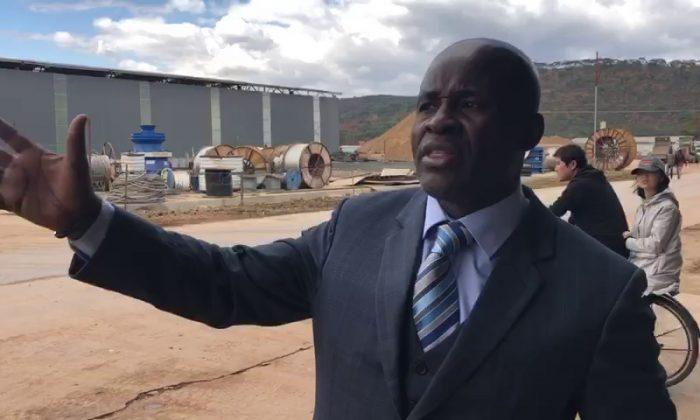 Zimbabwean member of Parliament Temba Mliswa visits Chinese company Sunny Yi Feng Tiles Zimbabwe on June 26, 2019. (Courtesy Temba  Mliswa)