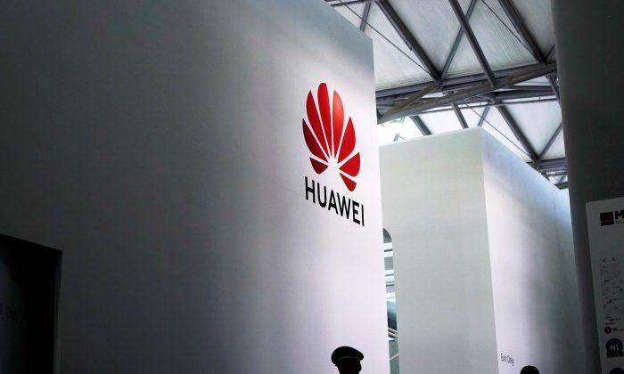 A Huawei logo is pictured at Mobile World Congress (MWC) in Shanghai, China on June 28, 2019. (Aly Song/Reuters)