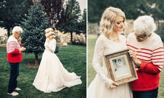 Bride Wears Grandmother's Wedding Dress That Hasn't Been Worn Since 1962