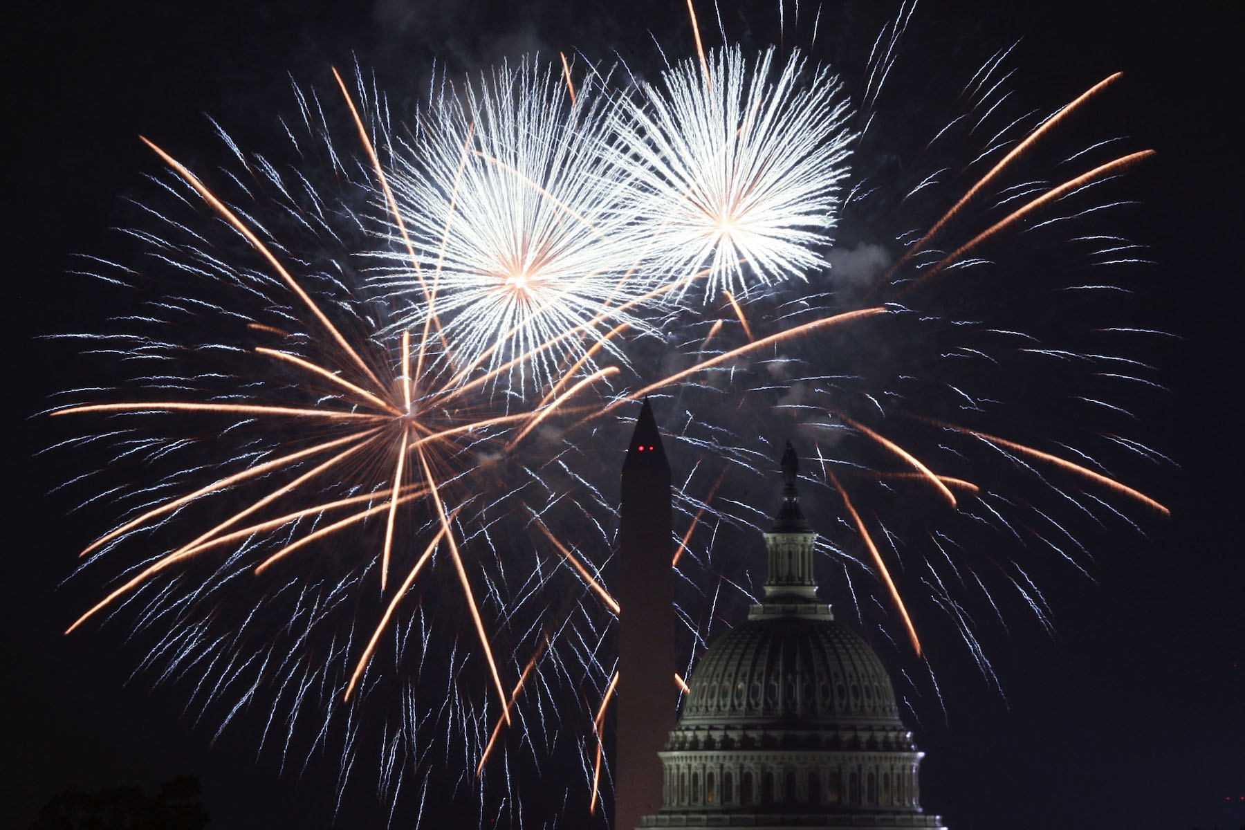 Fireworks Explode Over Nation's Capital In Celebration Of Independence Day
