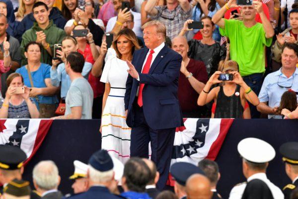 Melania and Trump July 4