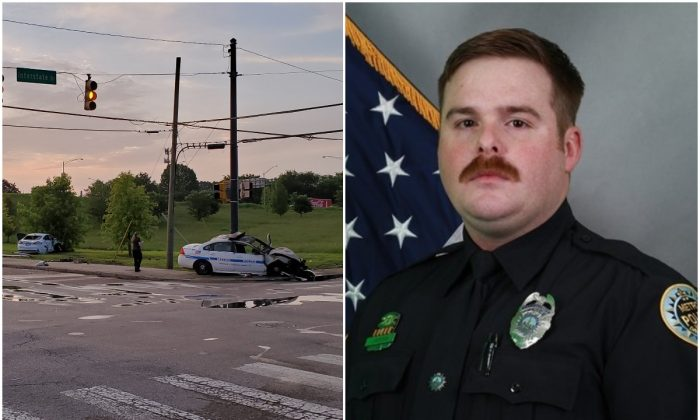 John Anderson, 28, who was killed in a crash in Nashville (L) on July 4, 2019. (NMPD)
