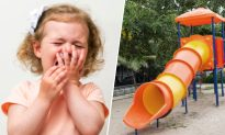 Tot Emerges From Tunnel Slide With Bloody Wounds, Mom's Shocked When She Looks Inside