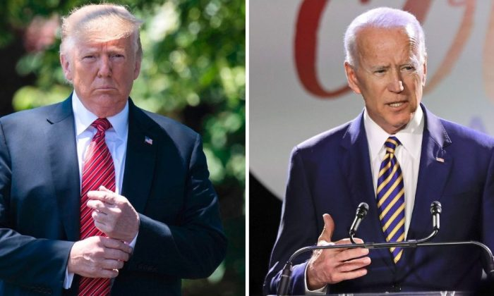 President Donald Trump (L). (Jim Watson/AFP/Getty Images); Former Vice President Joe Biden. (Frank Franklin II/AP Photo)