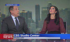 News Anchor Hides Under Desk During California Earthquake: Video
