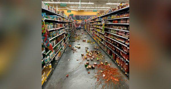 supermarket 7.1 earthquake california