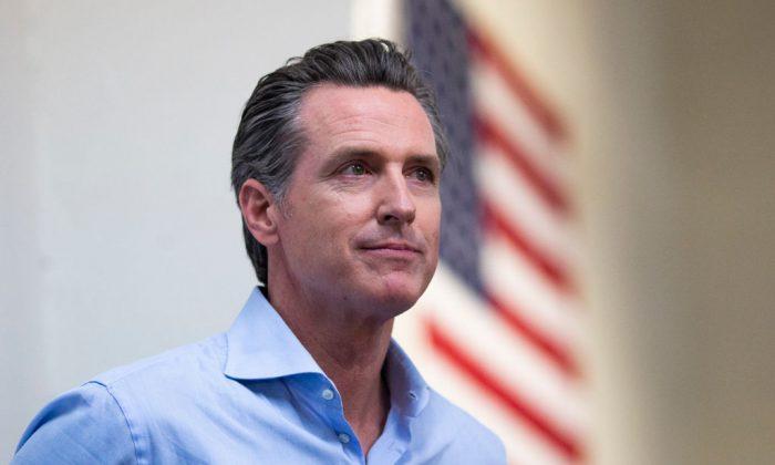 California Gov. Gavin Newsom in Modesto, Calif., on Nov. 5, 2018. (Alex Edelman/Getty Images)