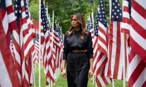Melania Trump Wears Gorgeous Denim Shirt Dress to Join Discussions on Opioid Epidemic