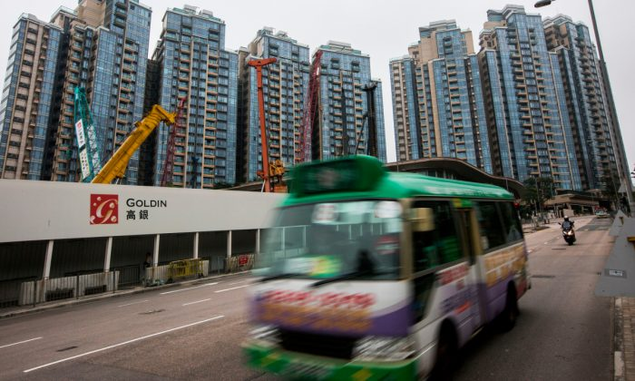 A bus driving in China. (Isaac Lawrence/AFP/Getty Images)
