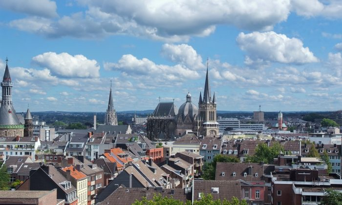 The city of Aachen sits right on the edge of Germany and Brussels, close to the Netherlands. (Aachen Tourismus)