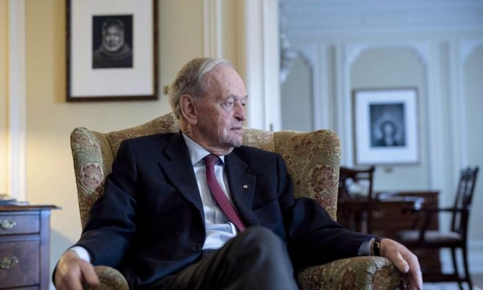 Former prime minister Jean Chretien participates in an interview in Ottawa on Friday, Oct. 5, 2018. Former Liberal prime minister Jean Chretien in hospital in Hong Kong. (Justin Tang/The Canadian Press)