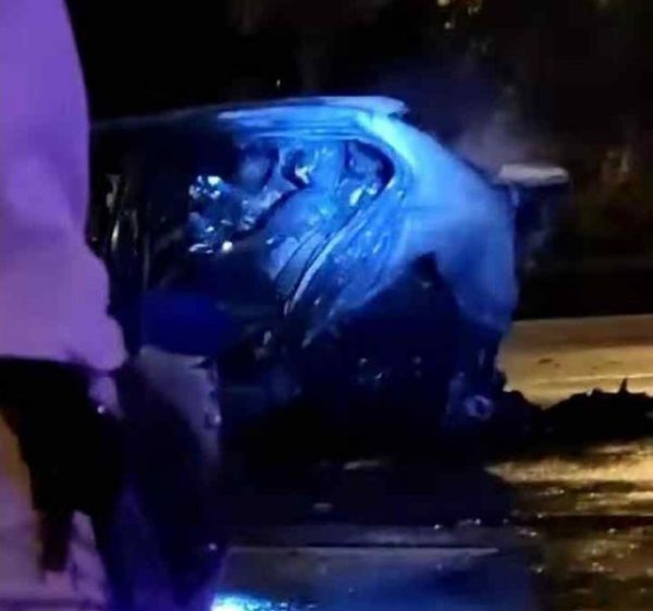 Drunk rich woman car crash