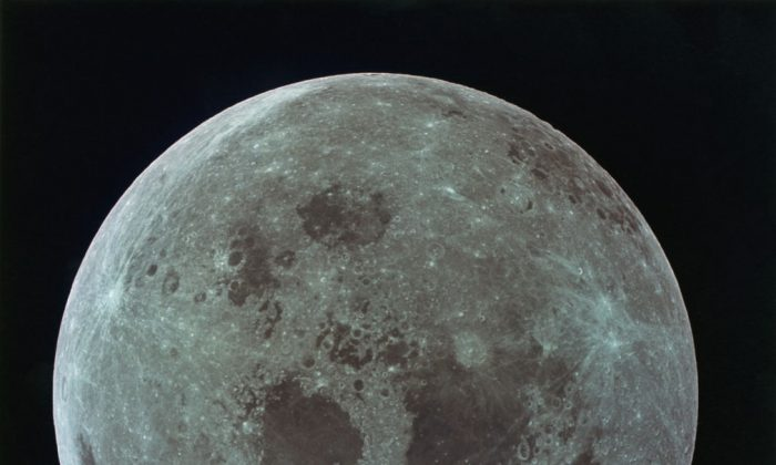 The full moon during NASA's Apollo 11 lunar landing mission, on July 21, 1969. (Space Frontiers/Getty Images)