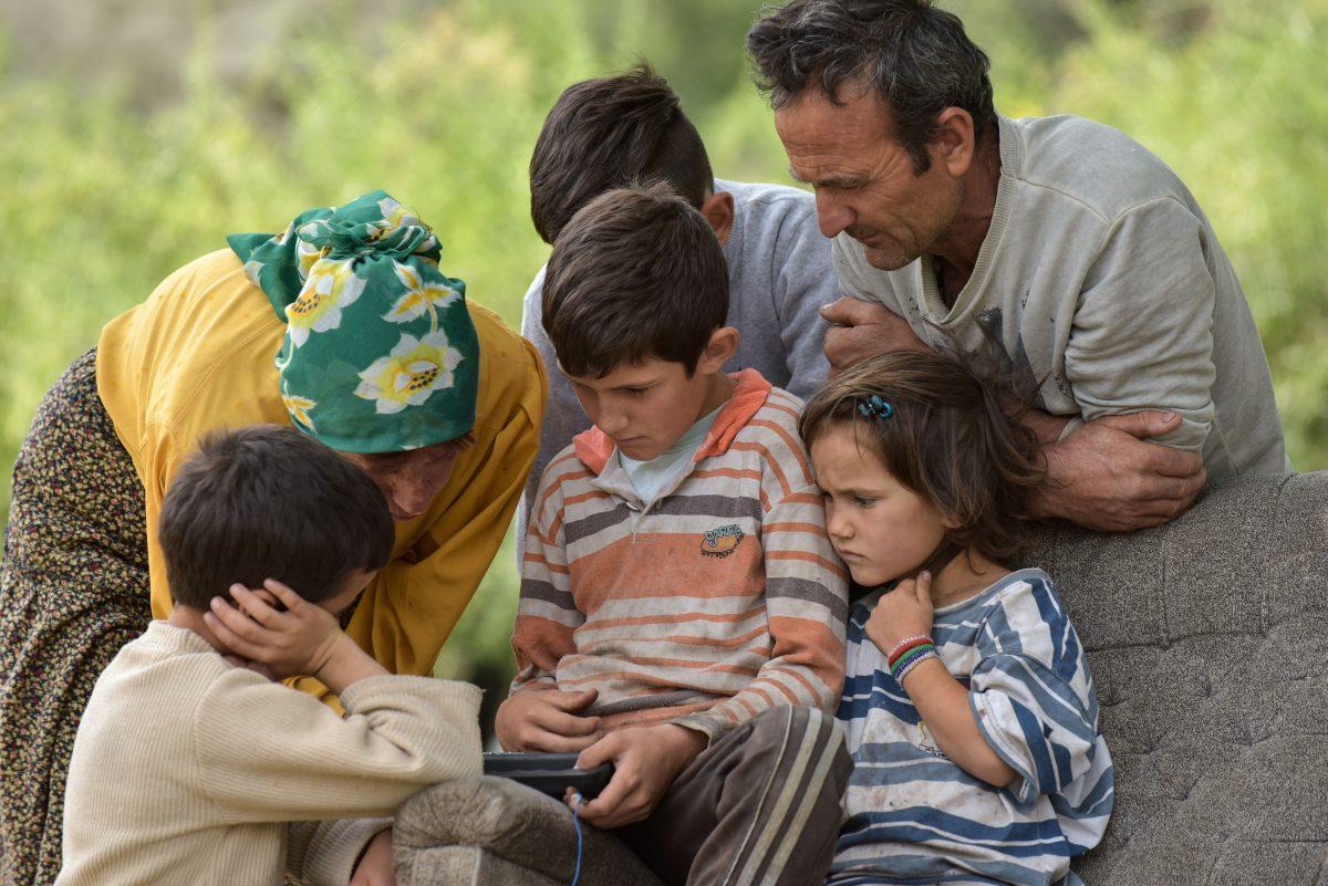 A Macedonian nomadic family