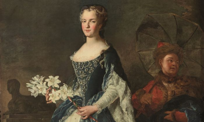 Marie Leszczynska, the queen of France, 1725, by Alexis-Simon Belle. Oil on canvas. National Museum of the Palace of Versailles and the Trianon, Versailles. (Christophe Fouin /Palace of Versailles (RMN-GP))