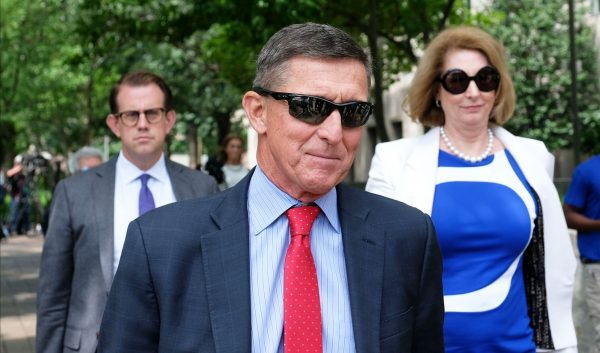 President Donald Trump's former National Security Adviser Michael Flynn leaves the E. Barrett Prettyman U.S. Courthouse in Washington
