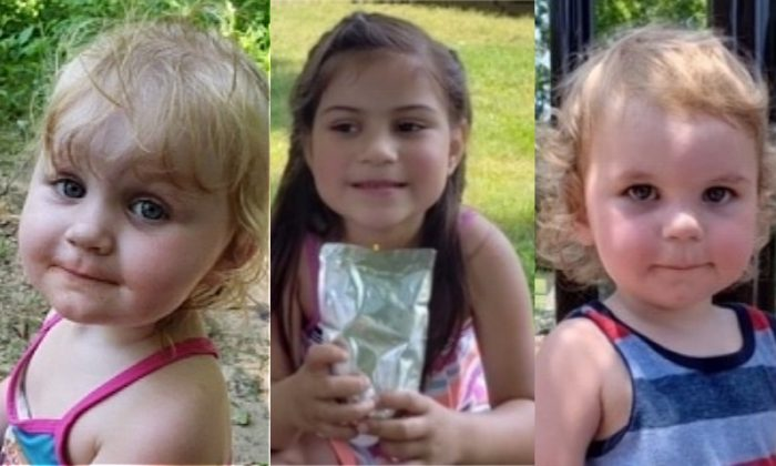 Pictures of 3 children (L to R) Abigail Nicole Christian, 2, Analia Essex, 6 and Michale Jimmy Lee Christian, 1 issued by the authorities. (Tennessee Bureau of Investigation)