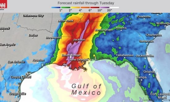 Millions Are Under a Flood Risk as a Storm Strengthens in the Gulf of Mexico