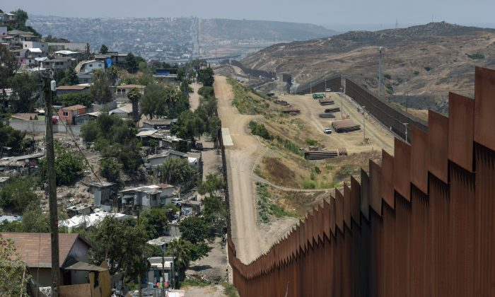 View of the Mexico-US wall in Tijuana, Baja California, Mexico on June 18, 2019. (AGUSTIN PAULLIER/AFP/Getty Images)