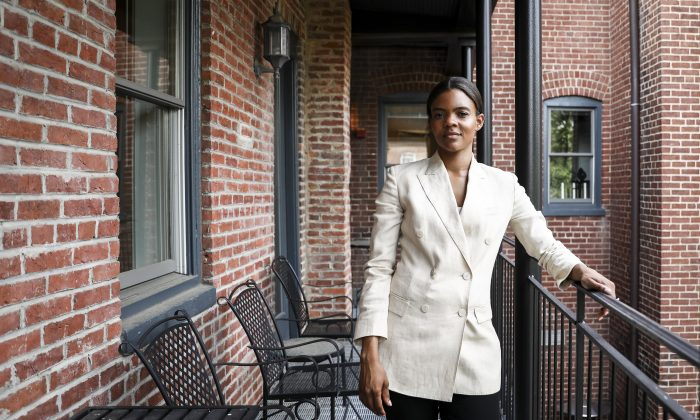 Candace Owens, American conservative commentator and political activist, in Washington on June 25, 2019. (Samira Bouaou/The Epoch Times)