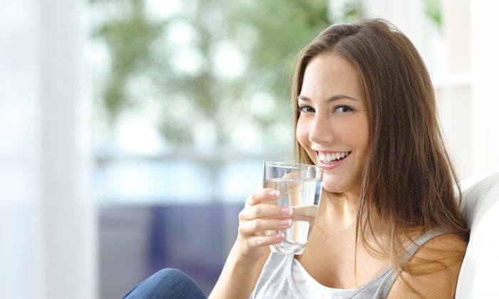 Drinking plenty of water is important to your health, but doesn't have a huge impact on your skin. (Antonio Guillem/Shutterstock)
