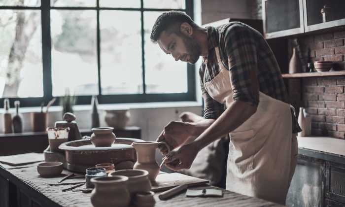 About to take on a new hobby? Best to do a gut check and make sure you're really committed before turning your garage into a pottery studio. (Shutterstock)