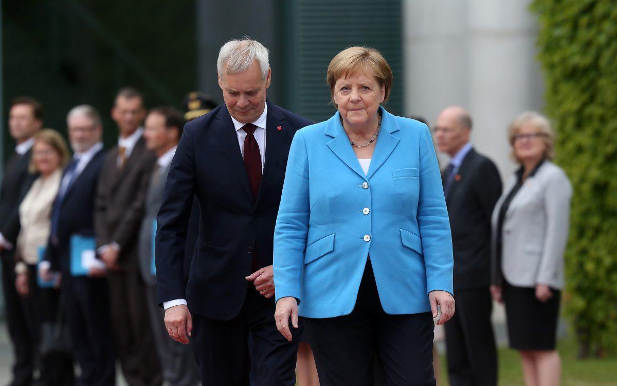 New Finnish Prime Minister Antti Rinne Visits Berlin merkel