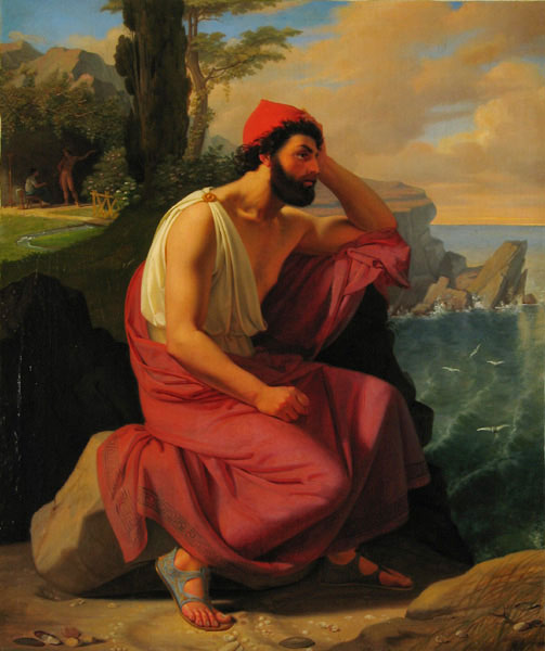 Odysseus pining for home