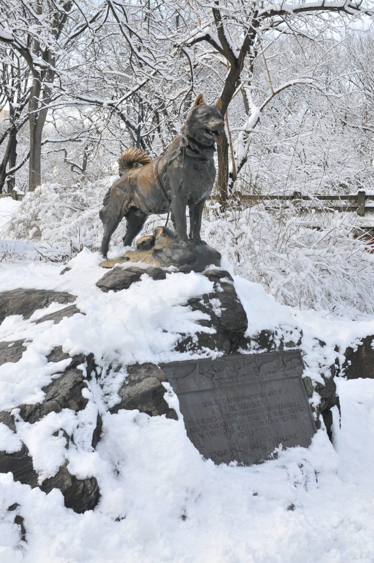 statues of central park Balto