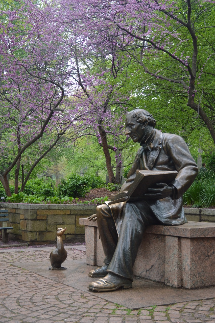 statues of central park Hans Christian Andersen