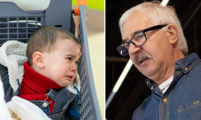 Stranger Follows Grandpa and 'Little Brat' in Supermarket