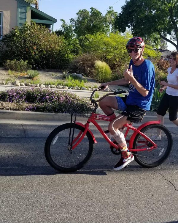 Harris on his bike