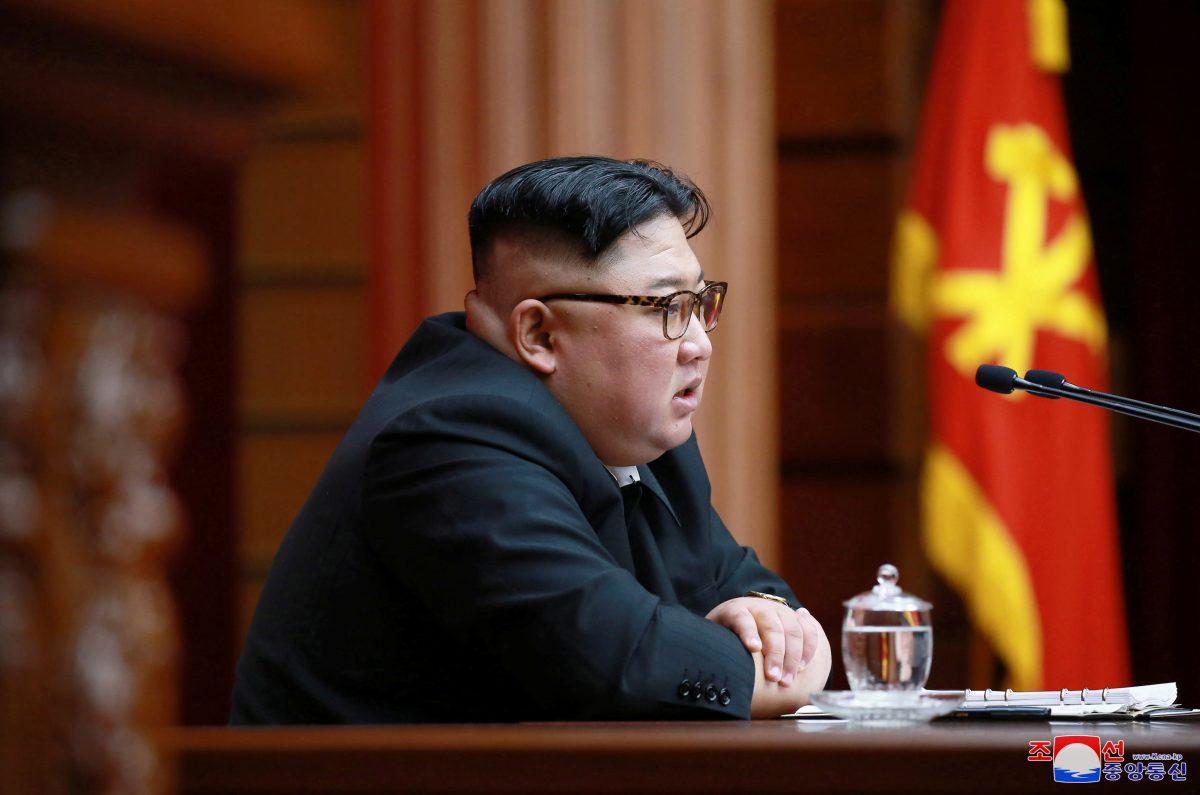 North Korean leader Kim Jong Un speaks during the 4th Plenary Meeting