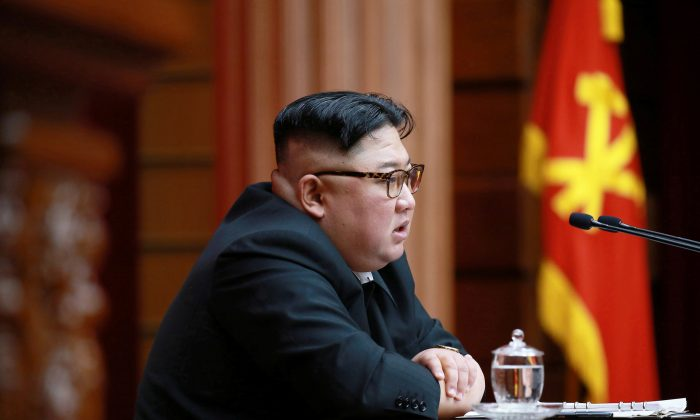 North Korean leader Kim Jong Un speaks during the 4th Plenary Meeting of the 7th Central Committee of the Workers' Party of Korea (WPK) in Pyongyang on April 10, 2019. (KCNA via Reuters/File Photo)