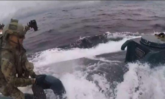 Dramatic Video Shows Coast Guard Seizing 'Narco Sub' Full of Cocaine Worth $232 Million