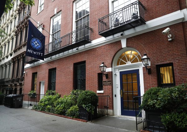 an all-girls' school located blocks from Financier Jeffrey Epstein's Upper East Side mansion in New York