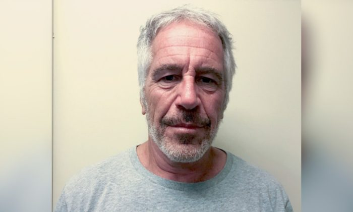 Jeffrey Epstein appears in a photograph taken for the New York State Division of Criminal Justice Services' sex offender registry on March 28, 2017, and obtained by Reuters on July 10, 2019. (New York State Division of Criminal Justice Services/Handout via Reuters)