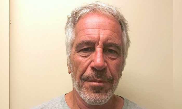 Jeffrey Epstein appears in a photograph taken for the New York State Division of Criminal Justice Services' sex offender registry March 28, 2017, and obtained by Reuters July 10, 2019. (New York State Division of Criminal Justice Services/Handout via Reuters)