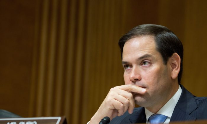US Senator Marco Rubio at Capitol Hill in Washington on July 20, 2017. (Tasos Katopodis/Getty Images for Kelly Craft)