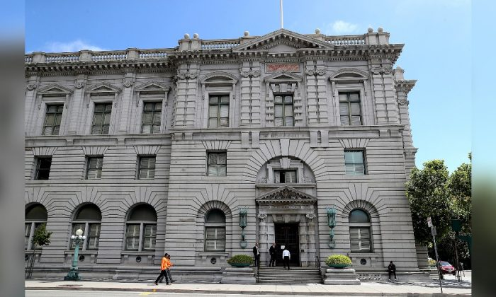 A view of the Ninth U.S. Circuit Court of Appeals in San Francisco, Calif., on June 12, 2017. (Justin Sullivan/Getty Images)