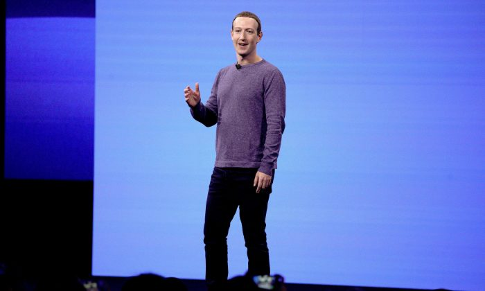 Facebook CEO Mark Zuckerberg makes the keynote speech at F8, Facebook's developer conference in San Jose, Calif. on April 30, 2019. (AP Photo/Tony Avelar, File)