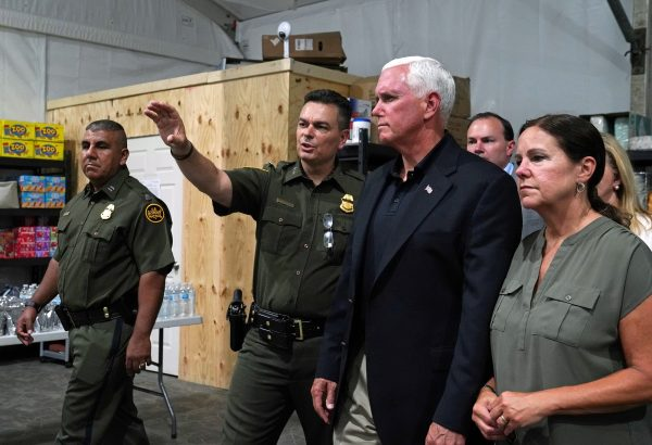 mike pence visits detention center