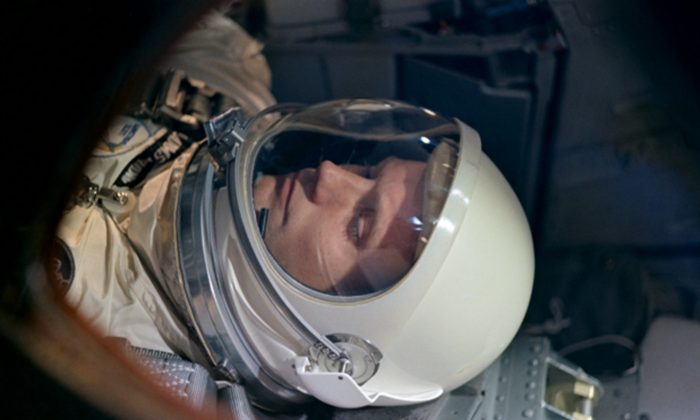 "Neil Armstrong inside the Apollo 11 craft in ""Armstrong."" (Gravitas Ventures)"