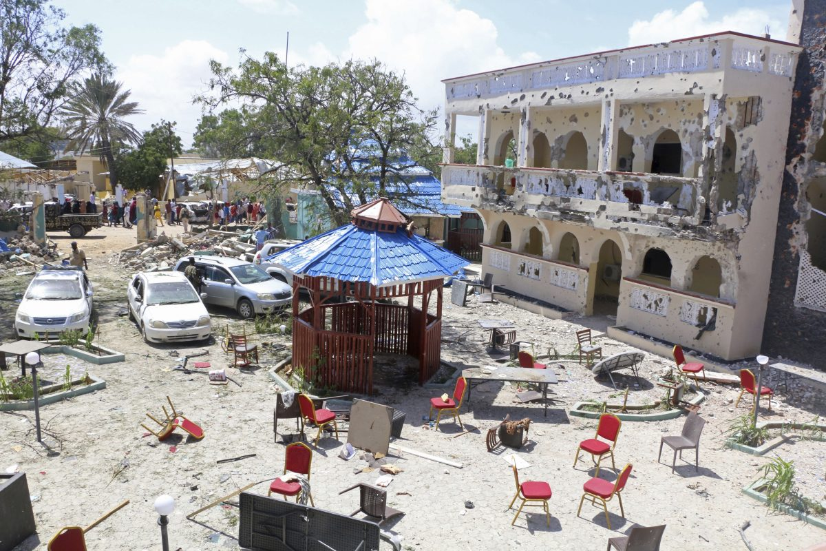 A view of Asasey Hotel in Kismayo