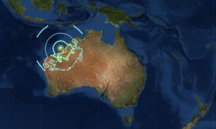 Earthquake near Broome off the coast of Western Australia. (USGS)